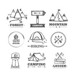 set logos camping vector image