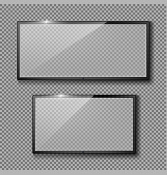 set with empty tv frames flat lcd screens vector image