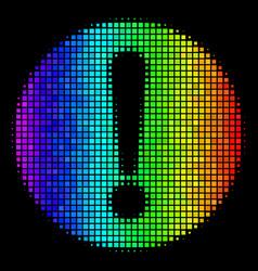 Spectrum pixel problem icon vector