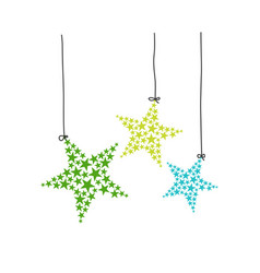star hanging stars vector image