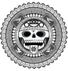 stylized deity of Aztec vector image