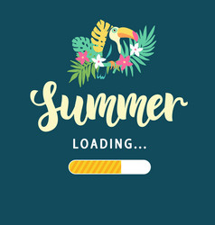 Summer loading modern amusing poster vector