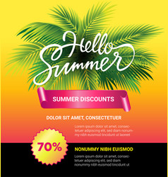 summer sale - leaflet template with brush vector image