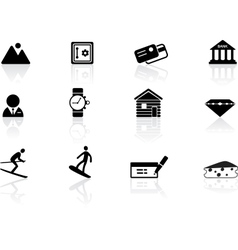 Switzerland symbols vector image