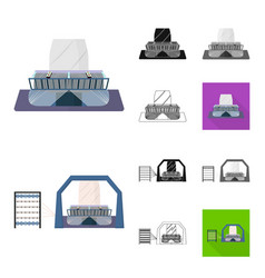 Textile industry cartoonblackflatmonochrome vector