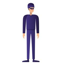 thief man avatar character vector image