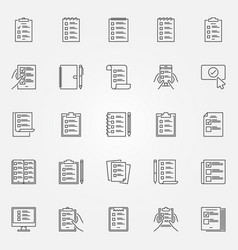 To do list outline icons check list and vector