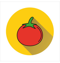 tomato simple icon on white background vector image