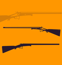 vintage hunting rifle vector image