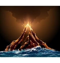 Volcanic Eruption vector image