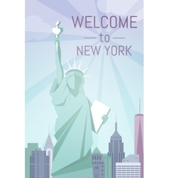 Welcome to New York poster flat design vector image