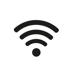 wifi icon in flat style black color white vector image