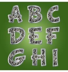 Zebra letters vector image