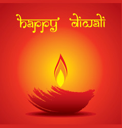creative happy diwali festival greeting design vector image vector image