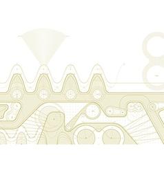 gearline draft vector image vector image