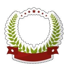 Olive branch emblem icon image vector