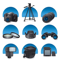 photo accessories vector image vector image
