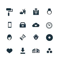 art design icons set vector image vector image