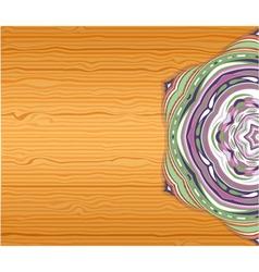 Colorfull ornamet snowlake on table vector image