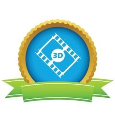 Gold 3d film logo vector image