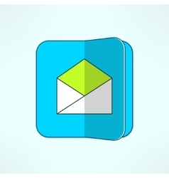 internet mail icon in modern flat design vector image