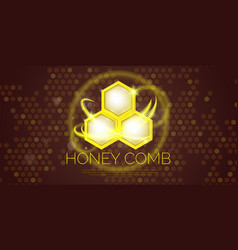 modern poster for sale of cosmetics based on honey vector image