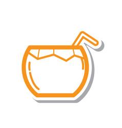 Thin line coconut water icon vector