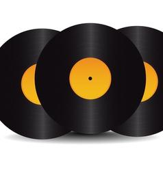 three black vinyl vector image