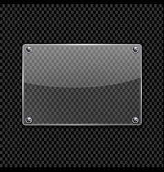 transparent glass plate vector image vector image