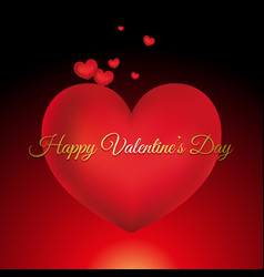 valentines day card with decorative text vector image vector image