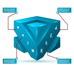 Abstract 3d Cube Isolated Infographic with vector image vector image