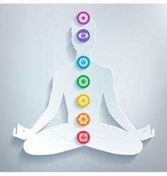 Meditation and chakras vector image