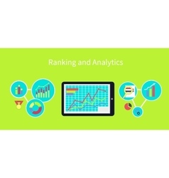 Ranking and Analytics Design Concept vector image