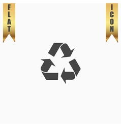 Recycling flat icon vector image