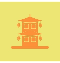 Chinese house of Chinese new vector image vector image