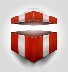 christmas open gift box vector image