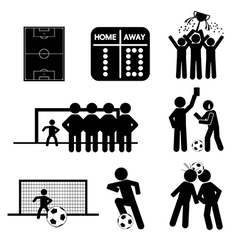 Football or Soccer Icons vector image vector image