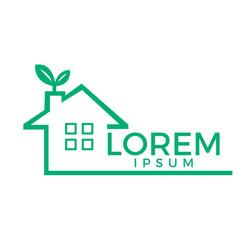 green house logo design vector image vector image