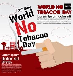 May 31st World no tobacco day vector image