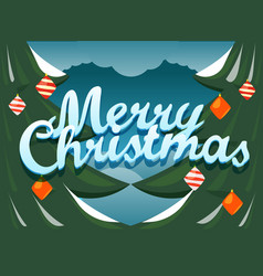 merry christmas greeting card festive concept vector image