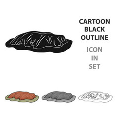 uluru icon in cartoon style isolated on white vector image