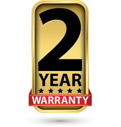 2 year warranty golden label vector image