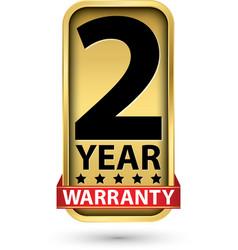 2 year warranty golden label vector