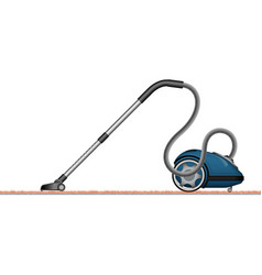 A modern vacuum cleaner is a side view 3d view vector
