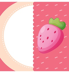 A stationery with a strawberry vector image