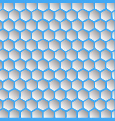 abstract effect honey comb blue background vector image