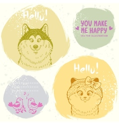 Animals grang set vector image vector image