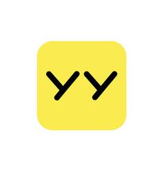 Astana kazakhstan -20 july 2020 yy icon yy logo vector