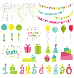 Birthday and party set vector
