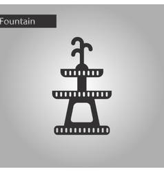 Black and white style icon halloween fountain vector